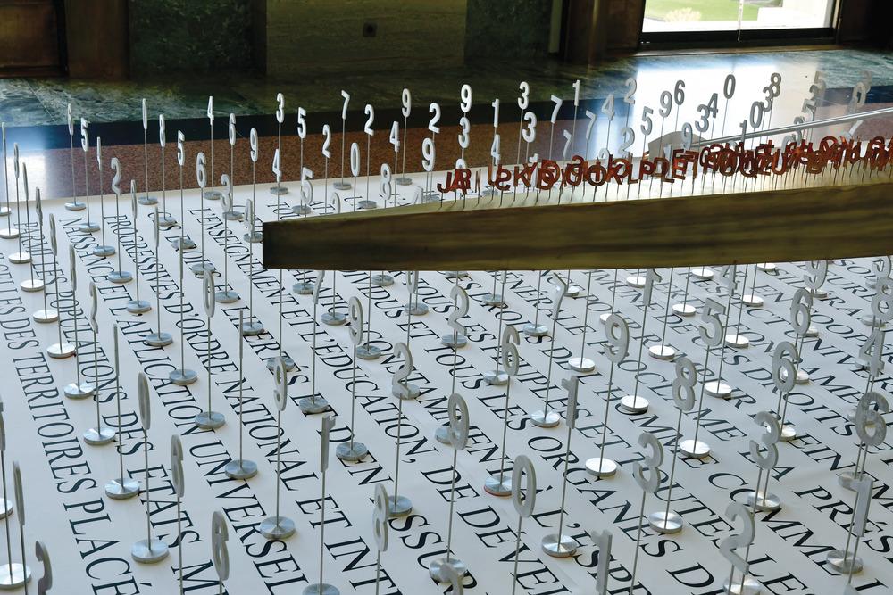 Exposición Brigitte Bouchard de Jacek Jarnuszkiewicz en la ONU 2