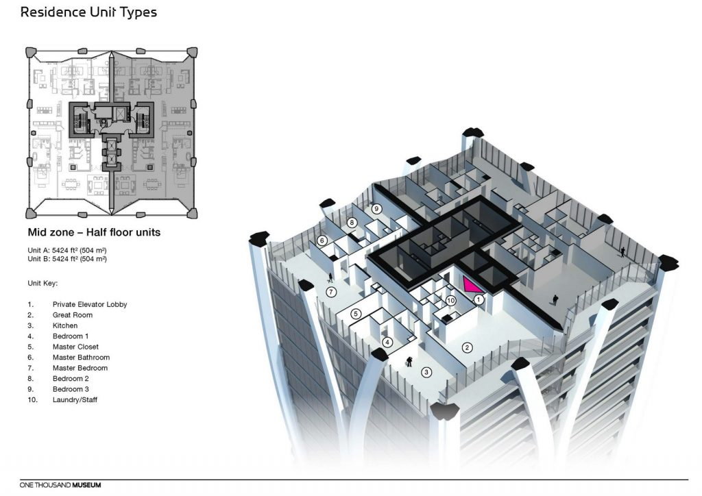 Fluidez entre arquitectura e ingeniería en las curvas de One Thousand Museum 27