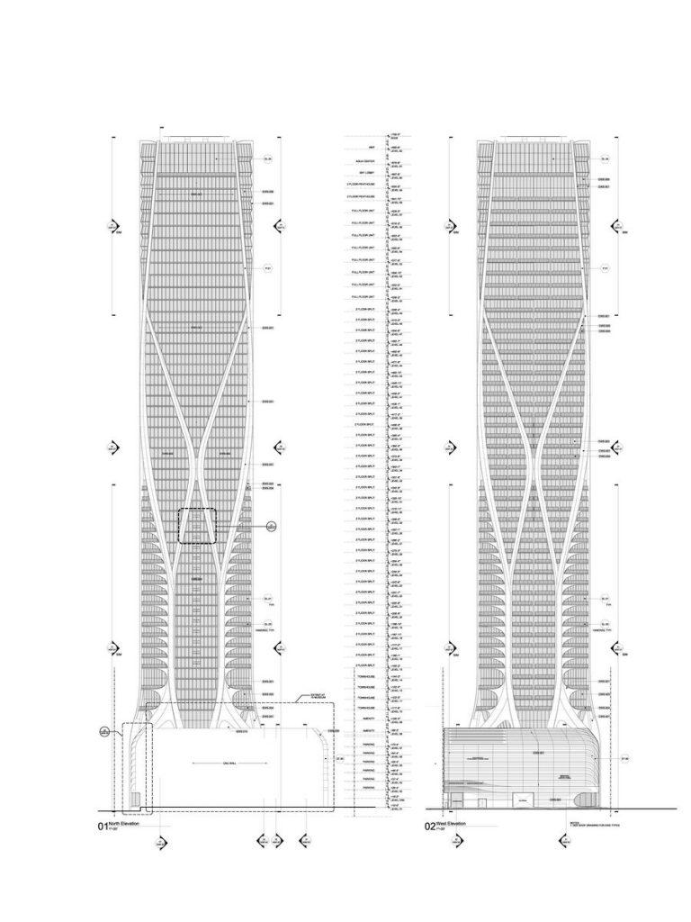 Fluidez entre arquitectura e ingeniería en las curvas de One Thousand Museum 25