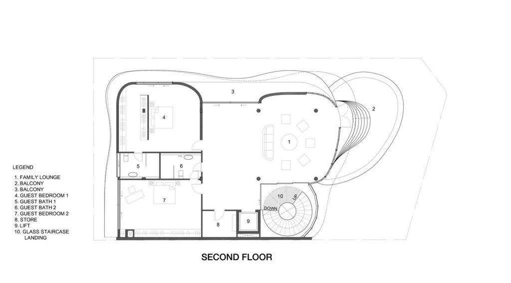 Con las curvas y sensualidad femenina EHKA STUDIO diseñó Stiletto House 11