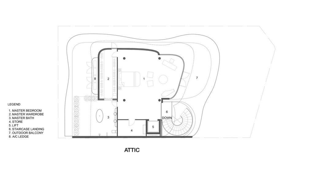 Con las curvas y sensualidad femenina EHKA STUDIO diseñó Stiletto House 12