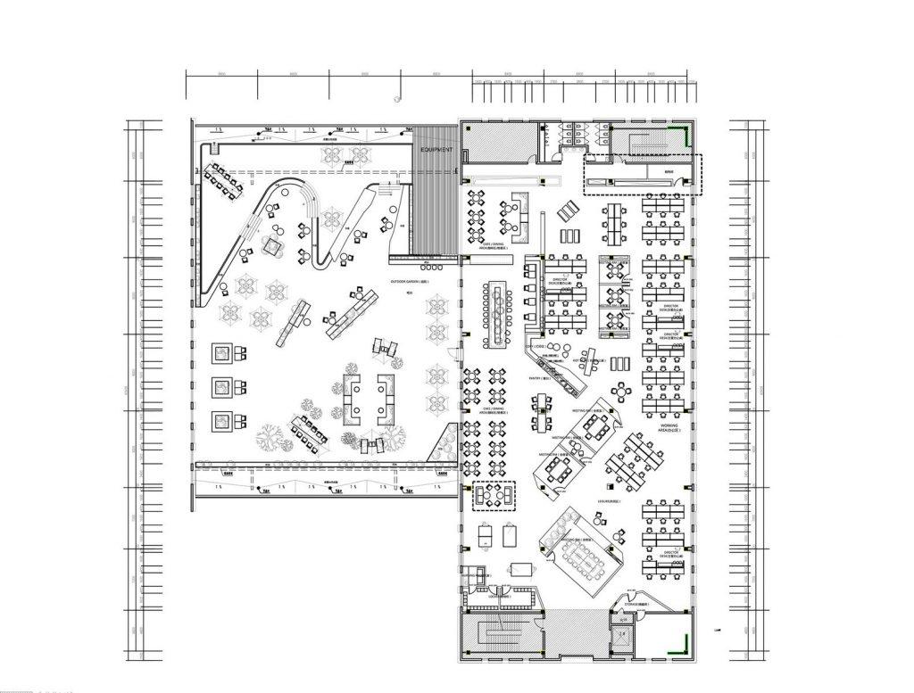 inDeco explora el futuro espacio de trabajo mediante diseño modular en las oficinas de Byton Nanjing 11