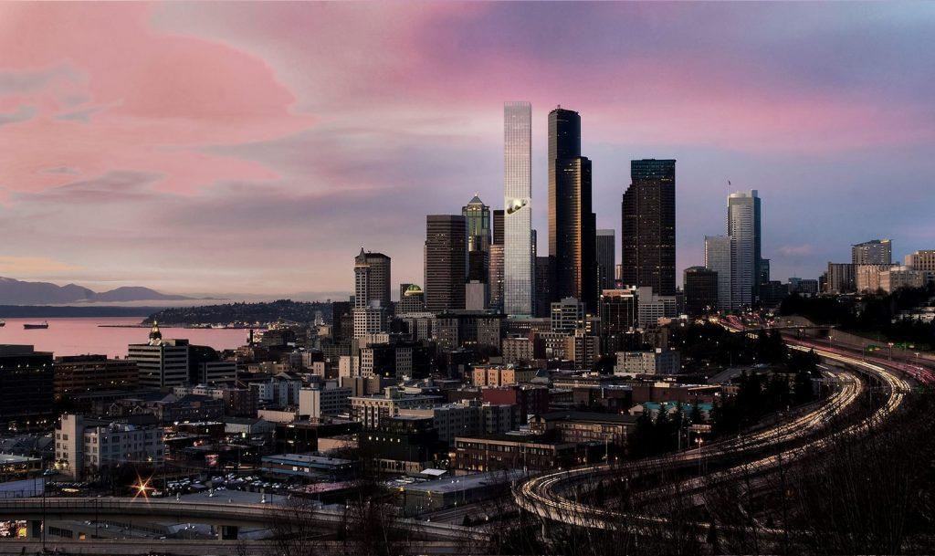"""Jardines suspendidos para disfruar de las vistas y la naturaleza en """"Seattle Tower"""" 1"""