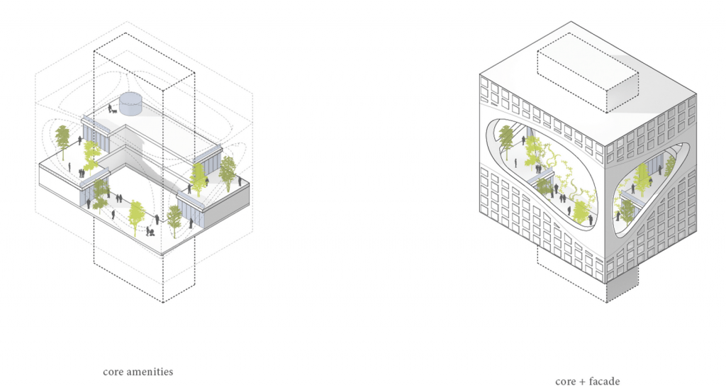 """Jardines suspendidos para disfruar de las vistas y la naturaleza en """"Seattle Tower"""" 4"""