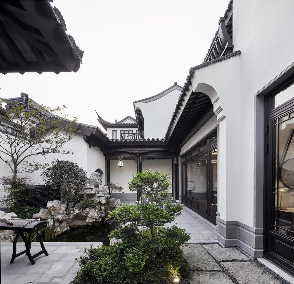 Hangzhou Boee · Villa modelo del patio de Hufeng 2