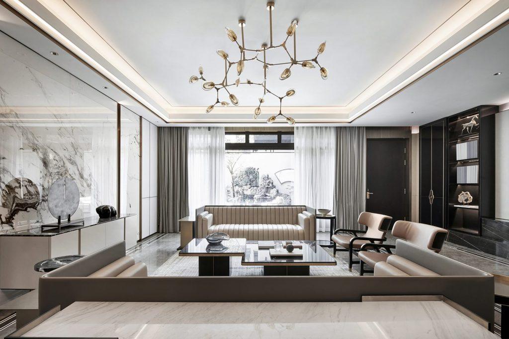 Hangzhou Boee · Villa modelo del patio de Hufeng 7