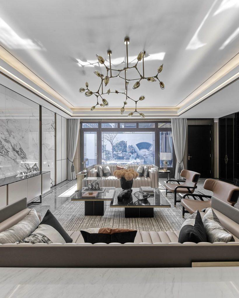 Hangzhou Boee · Villa modelo del patio de Hufeng 8