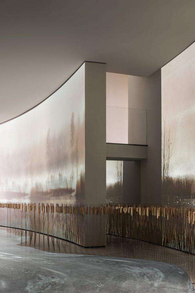 CENTRE DE VENDES Xi'an Vanke · VIEW LAKE 9'an VANKE · VIEW LAKE 9