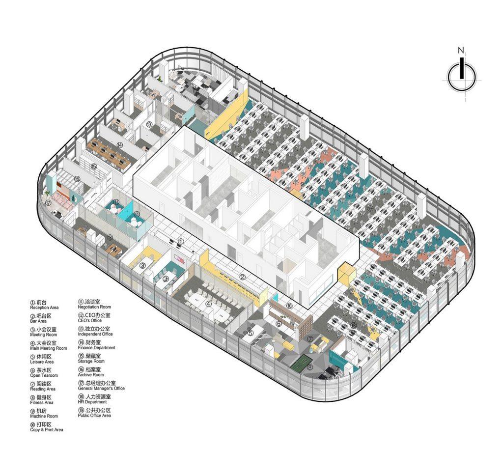 Oficina en el futuro: Sede de ViaBTC 19