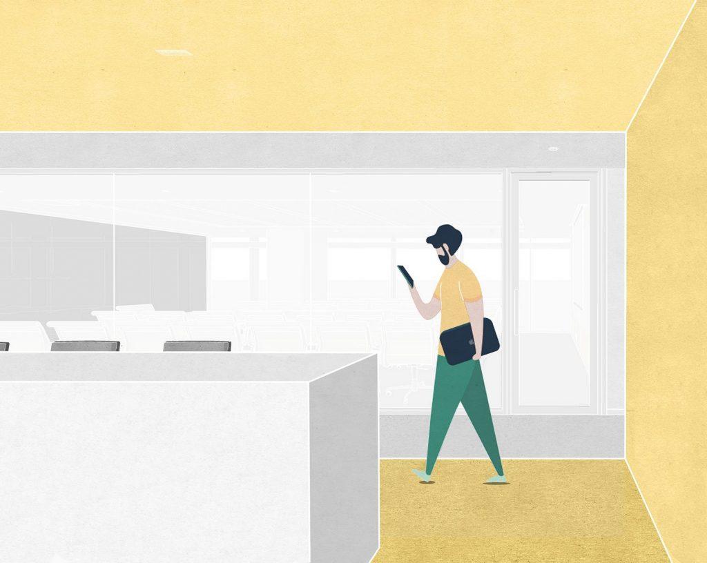 Oficina en el futuro: Sede de ViaBTC 21