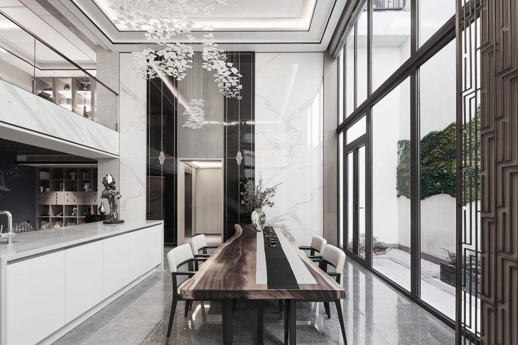 Hangzhou Boee · Villa modelo del patio de Hufeng 22