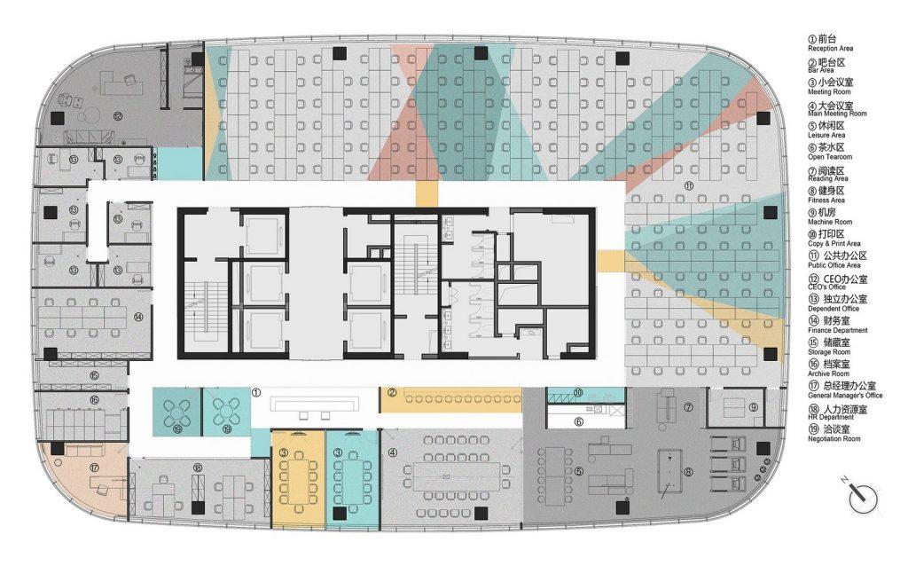 Oficina en el futuro: Sede de ViaBTC 25