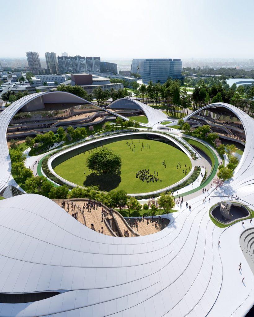 Un abrazo de la Ciudad - MAD Arquitectos Libera el diseño de la Jiaxing centro municipal 1