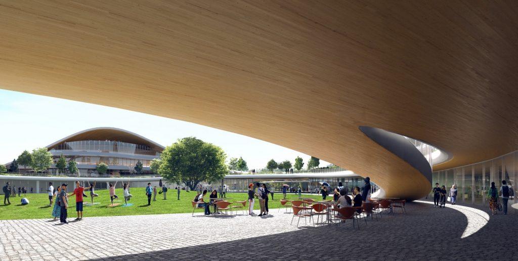 Un abrazo de la Ciudad - MAD Arquitectos Libera el diseño de la Jiaxing centro municipal 9