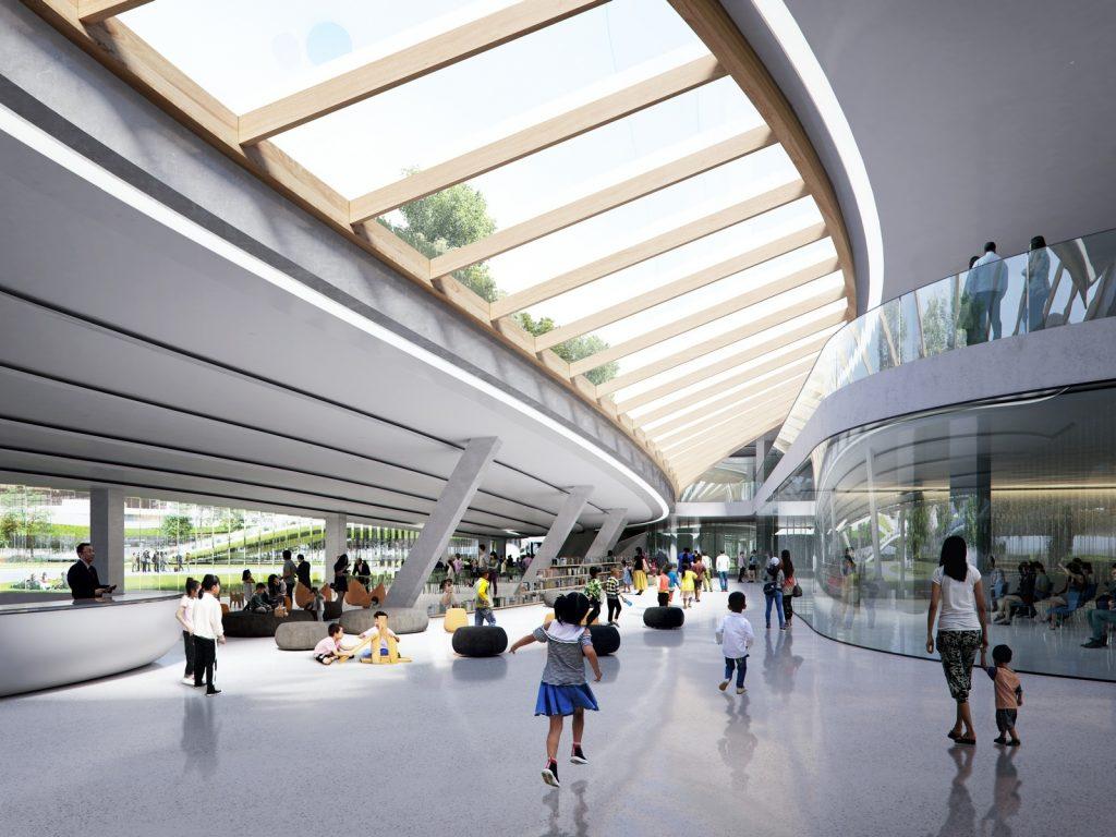 Un abrazo de la Ciudad - MAD Arquitectos Libera el diseño de la Jiaxing centro municipal 11